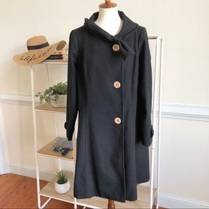 ModCloth 1X black pea coat